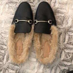 A New Day fur mules